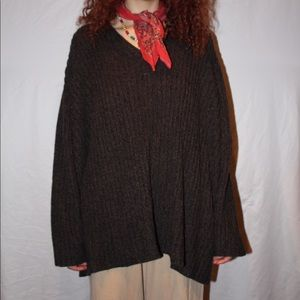 oversized brown sweater